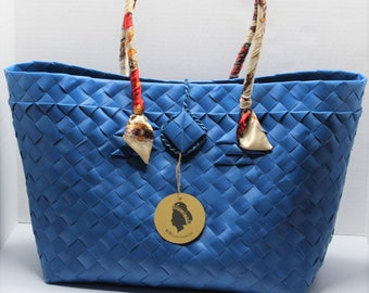Claribelle Blue Travel-Shopping Tote