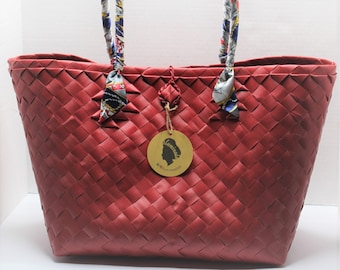 Claribelle Red Travel-Shopping Tote