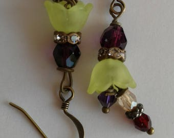 Green Flower Pendants
