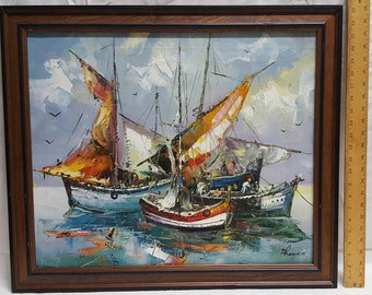 Seascape oil painting by Thomas