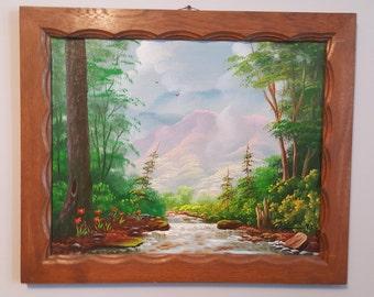 Iva Prince Original Oil on Board Little Pigeon River