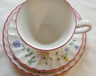 Johnson Brothers England Cup, Saucer and Sandwich Plate
