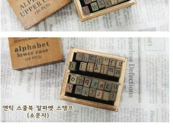 9 piece set Rico Design Home Made Paper Poetry wooden stamp set