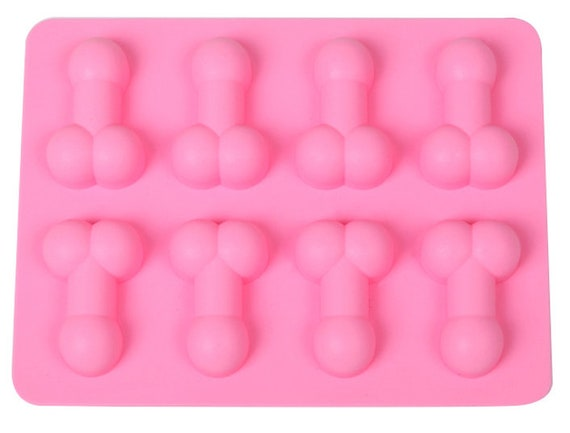 2 x WILLY SHAPED ICE CUBE JELLY CHOCOLATE HEN NIGHT NAUGHTY MOULD MAKER TRAY