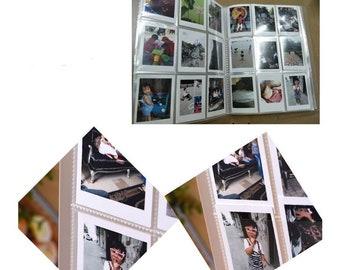 144 Pockets = 288 Photos Matte Plastic Cover Photo Album FujiFilm Instax Mini Polaroid Fuji Film Camera