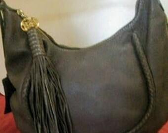 LANCEL Vintage Leather Handbag with tassel and medallion New Price Drop 20%