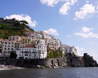 """Amalfi Photography, Coastal photography, Amalfi Coast Print, Italy landscape, """"Amalfi"""""""