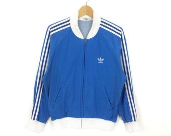 3649f3697 Vintage Adidas Trefoil Three Stripes Fullzipped Jacket
