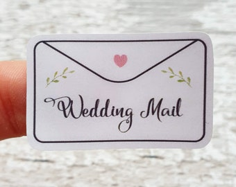Wedding Mail Stickers - Sheet of 40 stickers