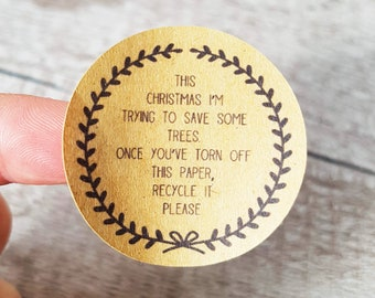Recyclable Christmas gift wrap decoration stickers