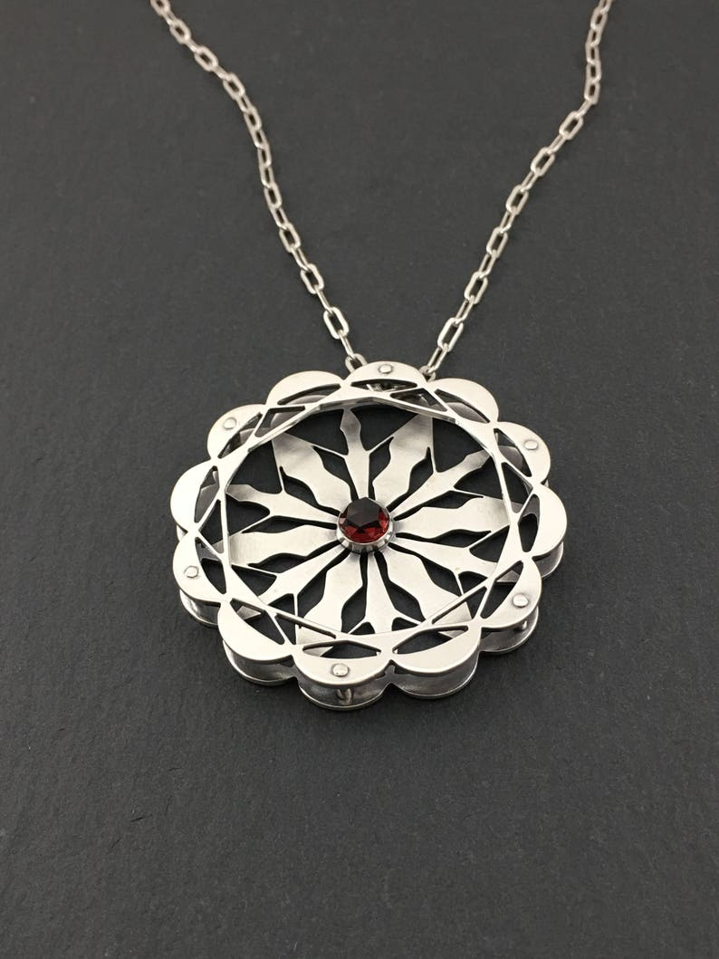 Handcrafted Sacred Geometry Pendant NecklaceSacred Geometry image 0
