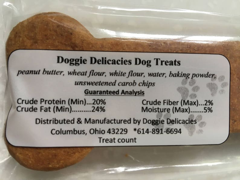 4869d0352564 ... CUSTOM NAMES Peanut Butter Dog Treats All Natural Dog image 4