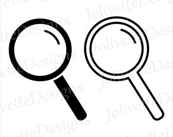 magnifying glass etsy
