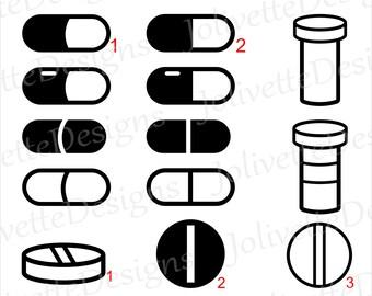 pill cut file etsy rh etsy com Pharmacy Technician Clip Art Physician Symbols