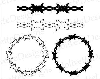 Barb wire svg   Etsy