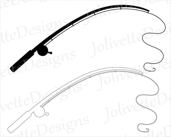 fishing pole fishing rod reel hook fish clip art clipart rh etsystudio com fishing pole clip art black and white free clipart fishing rod