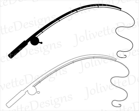 Download Fishing Pole Fishing Rod Reel Hook Fish Clip Art Clipart Design Svg Files Png Files Eps