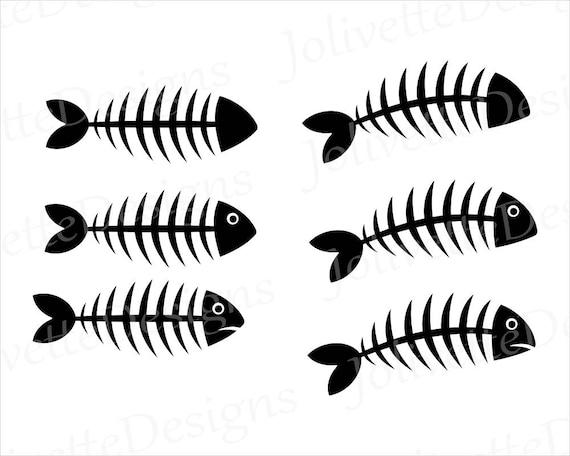 Fish Dead Bones SVG Clipart Clip Art Design