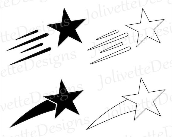 shooting star falling stars clip art clipart design svg etsy rh etsy com Catch a Falling Star Clip Art Falling Stars Graphics