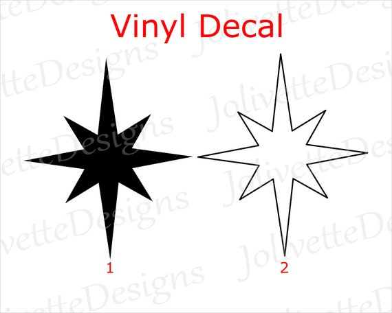 Christmas Clip Art North Star.Christmas Star North Star Jesus Religion Religious Decal Car Decal Laptop Decal Yeti Decal Sticker Vinyl