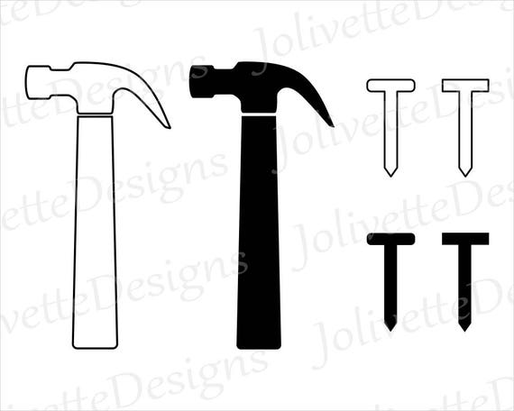 Hammer Nail Nails Tool Carpenter Clip Art Clipart Etsy
