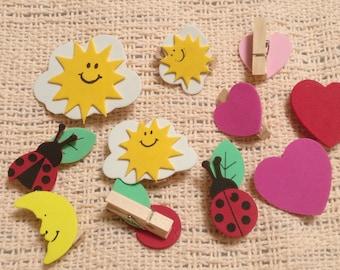 Miniature Decorative Clothespins