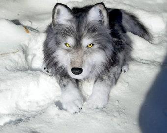 Plush Wolf Etsy
