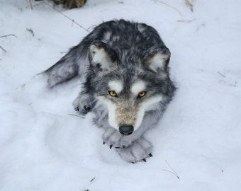 Realistic Wolf Plush Etsy