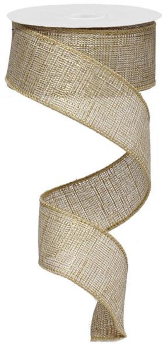 Ruban de lin beige, ruban par le rouleau, filaire ruban bord, ruban, ruban, ruban par le rouleau, en ruban pour guirlande