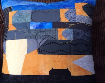 Scottish sunset cushion cover