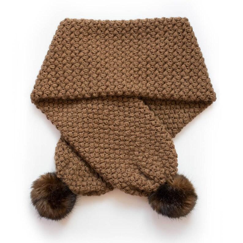Crochet Pompom Scarf Pattern CROCHET PATTERN Scarf Pattern Crochet Pompom Scarf Crochet Crochet Scarf Pattern