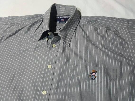 Vintage Polo Bear Button Shirt