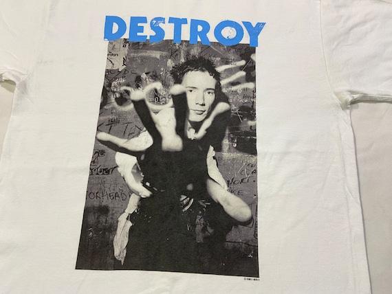 Vintage Destroy Sex Pistols By Dennis Morris T-Shi