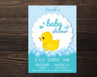 Baby Ducky Baby Shower Invitation