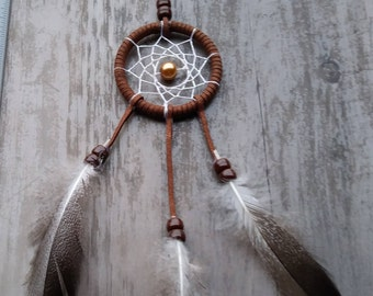 Handmade mini dream catcher Brown