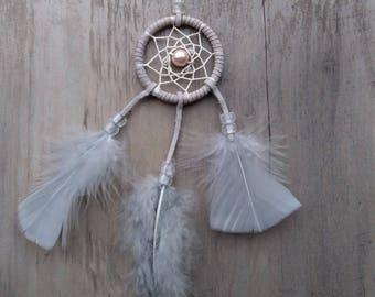 Handmade mini small dream catcher Gray