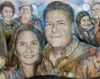 Family portrait by custom custom order decoration