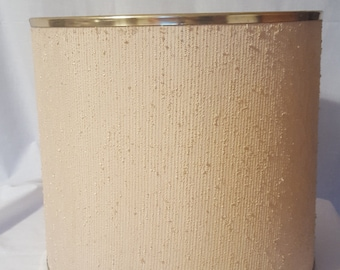 Gold lamp shade etsy vintage gold metal trimmed mid century lamp shade aloadofball Images