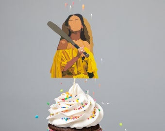 Beyonce-inspired Lemonade Cupcake toppers - Party Decor - Food Picks