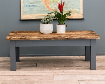 Rustic Coffee Table - Farmhouse Coffee Table - Reclaimed Coffee Table - Handmade Coffee Table