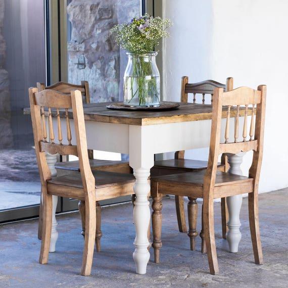 Enjoyable 3Ft 90Cm Rustic Farmhouse Dining Table Reclaimed Dining Table Handmade Dining Table Rustic Kitchen Table Dailytribune Chair Design For Home Dailytribuneorg