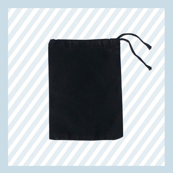 6x8 inches BLACK Muslin Double Drawstring Bags Art Craft Bags,Qty 25 50 //100
