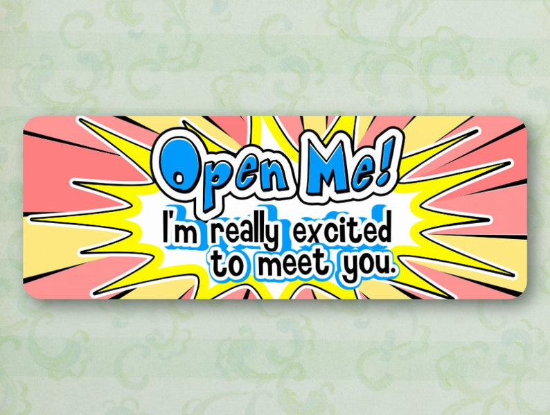 Cheerful Labels Open Me Glossy Shipping Stickers Happy Mail Labels Happy Mail Stickers Set of 30 Pretty Labels Pretty Stickers
