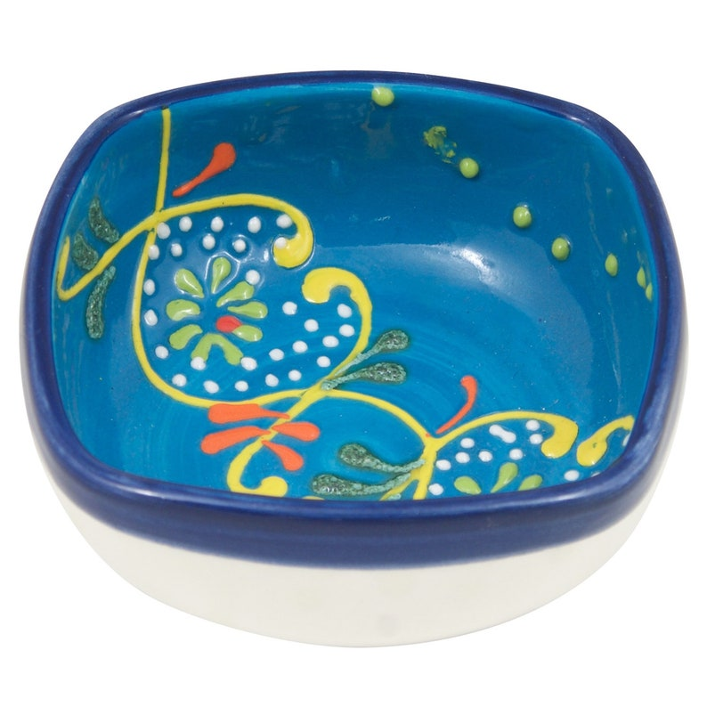 4 Hand Painted Ring Dish Trinket Bowl Jewelry Holder Jewelry Dish Four inch Decorative Ceramic Bowl