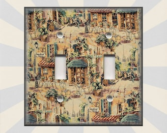 Charmant Metal Light Switch Cover   French Bistro Cafe Ecor Kitchen French Cafe  Decor   Switch Plates Outlet Covers Triple Quads Free Shipping