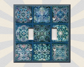 Brand New Mosaic Rainbow Handmade Custom Light Switch Wall Plate Cover
