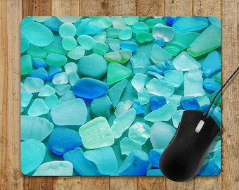 Mouse pad Ocean Waves fabric Gift for sea lovers grads beach mermaids and sailors Eco-Friendly home office accessory