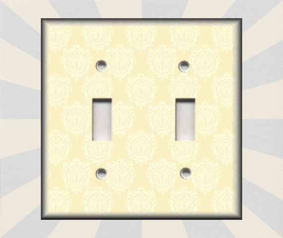 Metal Light Switch Plate Cover Mixed Copper Moroccan Patchwork Boho Decor