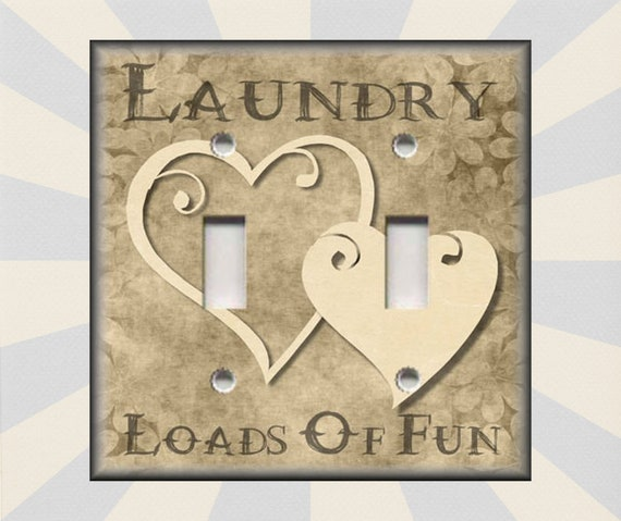 Wallplates Outlets Rocker Triple Laundry Loads Of Fun Decor Tan Laundry Decor Laundry Metal Light Switch Plate Cover Free Shipping