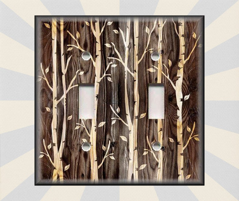 Light Switch Plate Cover Toggle Switchplate Outlet Cabin Wall Sticker Home Decor